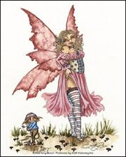 Amy Brown Sticker Decal Fairy Faery The Flirt sexy pixie pink heart tattoo wings