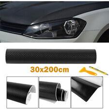 3D Carbon Selbstklebende Folie schwarz blasenfrei 50x200cm Carbon Optik Style