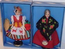 ancien vintage LOT 2 MINI POUPEE eros DOLL puppe COSTUME folklorique VENEZIA