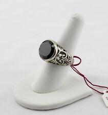 SILPADA STERLING SILVER BLACK ONYX RING R2045 SZ 7.75 FILIGREE NO RESERVE #769