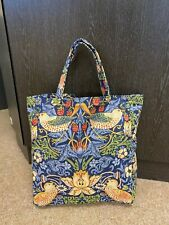 HANDMADE limited edition  small TOTE SHOPPER William Morris 220313 blue