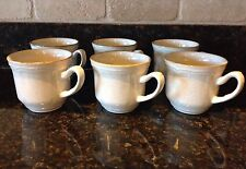 Hearthside Baroque Vintage Stoneware Coffee Mugs Cups Set Of 6, Very Little Use!