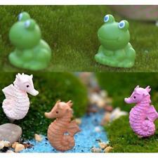14x Mini Fairy Garden Micro Landscape Dollhouse Bonsai DIY Seahorse+Frog
