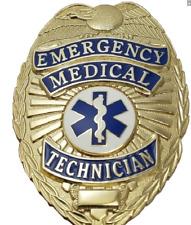 EMT Emergency Medical Technician Metal Badge in GOLD Color