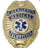 EMT Emergency Medical Technician Metal Badge in GOLD Color #4182G