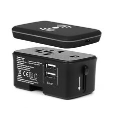 Travel adapter universal, Wireless 4,000 mA/h battery, 2 Usb 1.4A, 6A max.