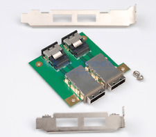 2Ports Mini SAS SFF-8088 To 36Pin SFF-8087 PCBA Female Adapter Card+PCI Bracket
