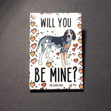Bluetick Coonhound Valentines Day Magnet Handmade Dog Gifts Kitchen Home Decor