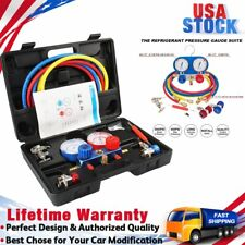 5FT AC Diagnostic Refrigeration Manifold Gauge Kit Set HVAC Charging R134A R22