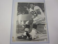 Dave Robinson Green Bay Packers vintage black & white 8x10 Wrapped Ankle