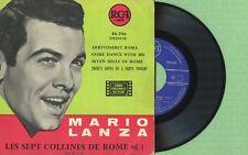 MARIO LANZA / Arrivederci Roma, Les Sept .. / RCA 86.246 Press France 1957 EP VG