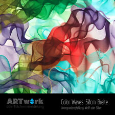 Wassertransferdruck Folie WTD Hydrographic Color Waves 1m x 50cm Breite