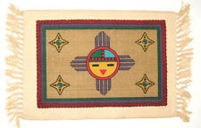 """Set of 6 Southwest Native American Sunface Themed Placemats 13x19"""" Canvas SF87"""