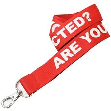 "Rush 100 Personalized 1"" High Quality Polyester Lanyards w/ Your Logo / Message"