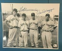 Ted Williams & Joe DiMaggio Signed 8x10 Photo Certified Authentic