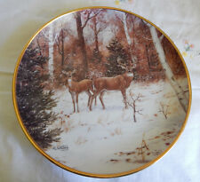 In Winter Woods Plate By Judi Whiting (Deer) Coa