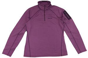 Marmot Women's Stretch Fleece 1/2 zip - Size L - Amethyst 89680
