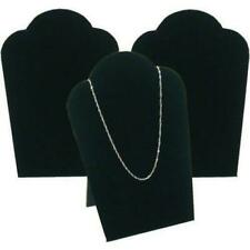 3 Black Velvet Necklace Pendant Jewelry Bust Display Easel 3 34 X 5 14