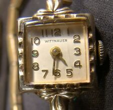 Pretty Ladies Vintage Wittnauer Square Face 10 K Gold Plated Swiss Watch
