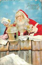 Merry Christmas Joyeux Noel Santa Claus postcard 04.76