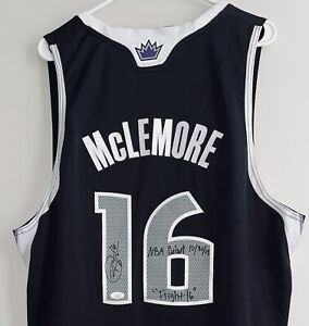 Ben McLemore Lakers Kings Autographed NBA Swingman Signed Jersey JSA & McLEMORE