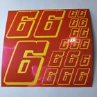 PINK CHROME w/Yellow  #6's Decal Sticker Sheet DEFECTS  1/8-1/10-1/12 RC Mo BoxD