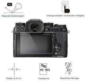 Fuji X-T2 0,4 mm Adhäsion Displayschutzglas Schutzfolie LC7651