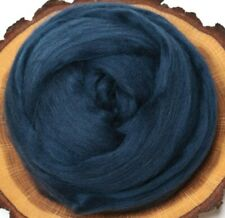 Midnight Blue Merino wool roving, combed top, for spinning, nuno felting - 2 oz