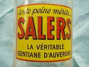 Ancienne carafe bistrot pichet publicitaire pour la SALERS GENTIANE D' AUVERGNE