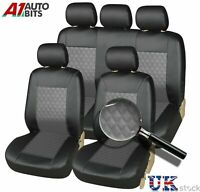 Front Rear For Fiesta Focus Mondeo Car Seat Covers Leather Look Full Set Grey