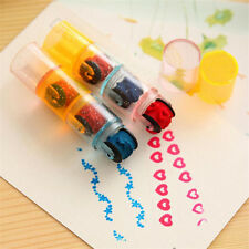 Children Early Learning Toys Cute Cartoon Heart Star Scroll Self Inking Stamper