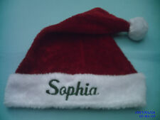 "PERSONALIZED MONOGRAMED ,RED AND WHITE """"PLUSH"""",,SANTA  HAT, / CAP, 18 '' TALL"