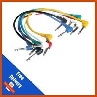 6x 90 Degree 30cm Guitar FX Pedal Effects Patch Cable Lead 1/4 Jack