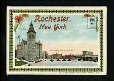 Postcard Folder New York NY Rochester City Hall Genesee River Willow Pond
