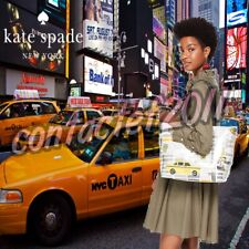 Kate Spade Francis Taxi Tote Shoulder Bag Sequin Wristlet Purse City