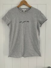 Topshop Maternity Grey ' You Got This' T Shirt Size 8