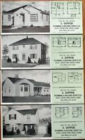 Chicago, IL 1947 Advertising Blotters - SET OF FOUR w/Home Plan- Dipper Plumbing