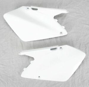 UFO Plastics Side Panels - White SUZUKI RM125 2003-2007 RM250 2003-2008 11-5326
