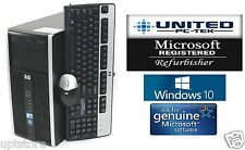 Fast Fast HP Tower Windows 10 Home Intel Dual Core 2.6GHz 8GB DVD/RW 10 USB 2