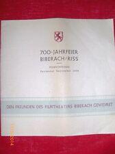 Prospekt - 700 Jahrfeier Biberach/Riss - Filmtheater Biberach - Orig. 1950  /S23