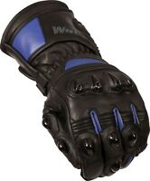 Weise Barracuda Mens Leather Black Blue Sports Motorcycle Gloves