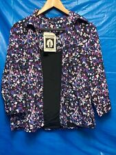 Nwt Notations Womens Large 2 -Fer Twin Set Blouse Top Fall Winter Multi