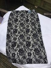 Cream/black Lace Pencil Shirt. Size 6. BNWT