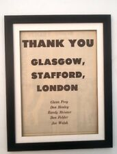 More details for eagles*thanks for 1976 tour*original*poster*ad*framed*fast world ship
