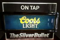 VINTAGE 1998 Coors Light The Silver Bullet on Tap Lighted Wall Sign Collectible