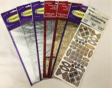 Scrapbooking Stickers Lot of 7 Sheets For Scrapbook Crafts New Free Shipping