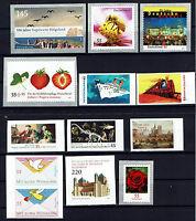 Selbstklebende Marken aus BRD Jahrgang 2010 , komplett mit allen Marken