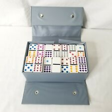 Vintage Domino By Cardinal 89 Colored Tiles Instruction Maual 16 Games