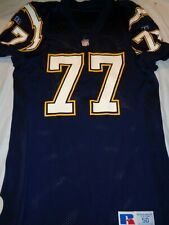 Russell Athletic San Diego Chargers Eric Moten #77 Authentic NFL Jersey size 50
