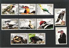 ZAIRE (1982) - Mi 792/801 **MNH - OISEAUX / BIRDS